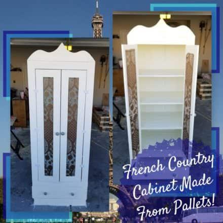 Pallet French Country Cabinet: DIY Video Tutorial