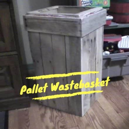 Pallet Wastebasket Keeps Shop Neat & Tidy