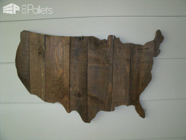 Create a Pallet Wood USA wall art piece.