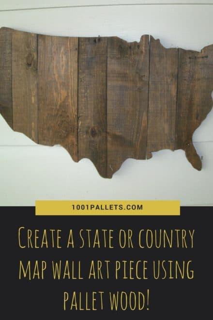 Pallet Wood Usa Mainland Wall Art