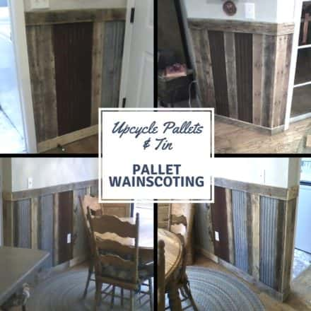 Pallets Plus Tin Makes Stunning Wainscoting!