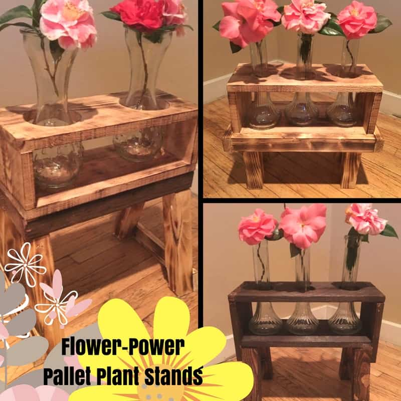Fun Dining Room Wall Décor Ideas: Pyrography Pallet Plant Stands Are Rustic & Gorgeous