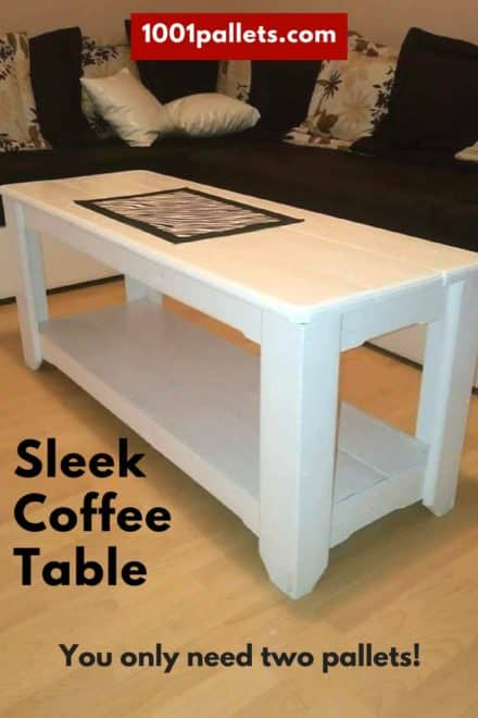 Sleek Coffee Table Made From Two Pallets