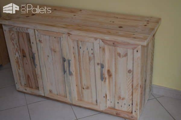 The top project of January 2018 is a pallet cabinet.
