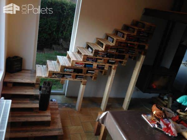 The 4th most popular project of January 2018 is a set of Pallet Stairways.