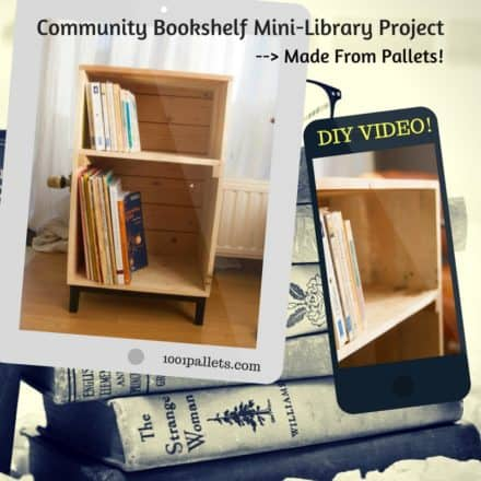 Create Mini Libraries: Little Pallet Bookcase Town Project