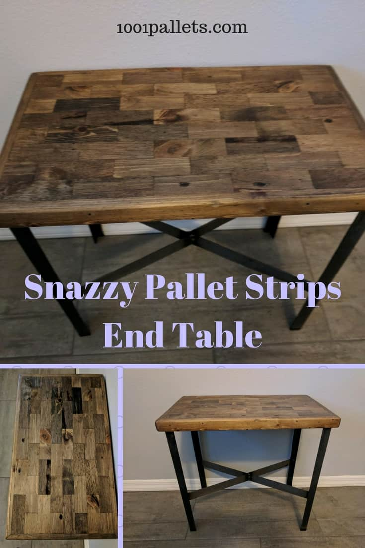 Metal Leg Pallet Strips End Table 1001 Pallets
