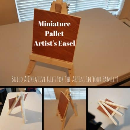 Miniature Pallet Wood Artist's Easel As A Gift!
