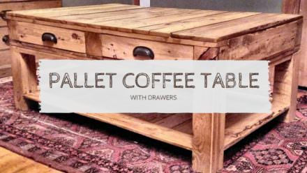Pallet Coffee Table With Drawers: My First Pallet Project
