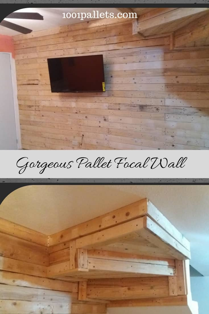 Update that drab wall with upcycled pallet wood, do it yourself and save lots of money! Pallet wood adds beauty & warmth to any room of the house! #1001pallets #diypalletprojects #warmthatroomwithwood #1001pallets #palletsrock