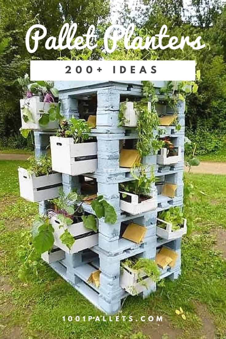 Pallet Planter Ideas Amp Compost Bins 1001 Pallets