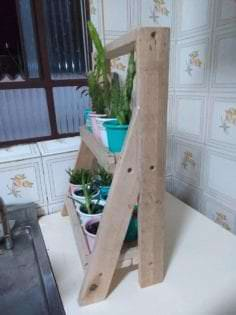 Pallet Wood Indoor Garden Plant Stand 1001 Pallets
