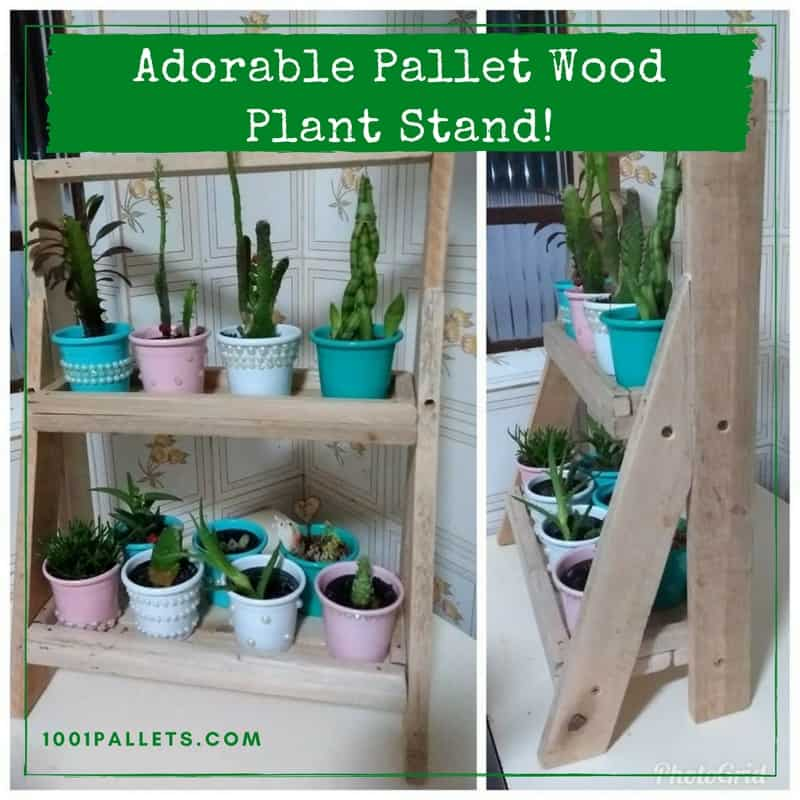 Pallet Wood Indoor Garden Plant Stand • 1001 Pallets