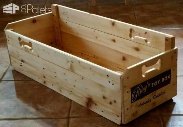 This Puppy Toy Box is designed to fit under the stairs.