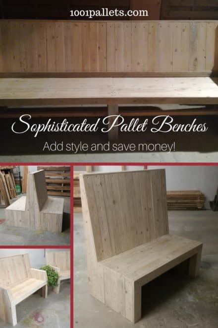 Sophisticated Pallet Bench Set Adds Beauty To Your Patio