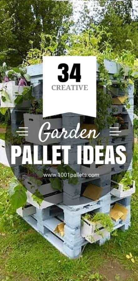 Pallet Garden Ideas Our Best Plans Tutorials 1001 Pallets - Pallet-garden-ideas