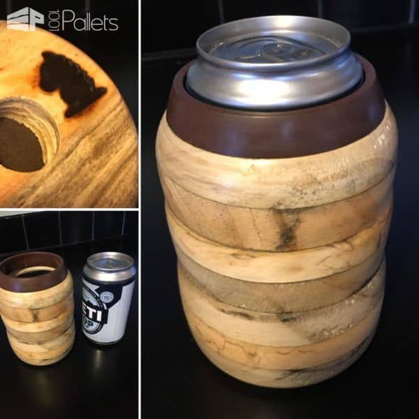 This Pallet Wood Koozie is so much more sophisticated than those cheesy foam koozies!