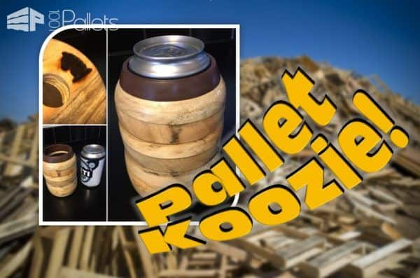 Wood-turned Pallet Wood Koozie With DIY Video Tutorial!
