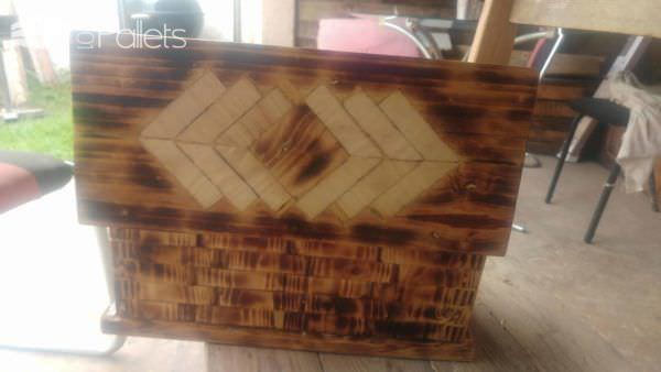 Here's my finished Pallet Jewelry Box.