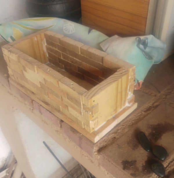The Pallet Jewelry Box is assembled. I used wood glue and finish nails to secure the sides together.