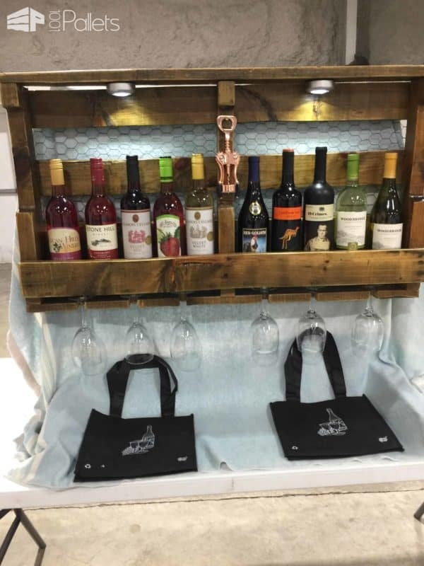 Another Pallet Wine Rack Pallet Shelves & Pallet Coat Hangers Pallet Store, Bar & Restaurant Decorations