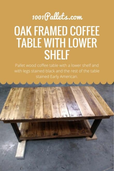 Oak Framed Coffee Table With Lower Shelf