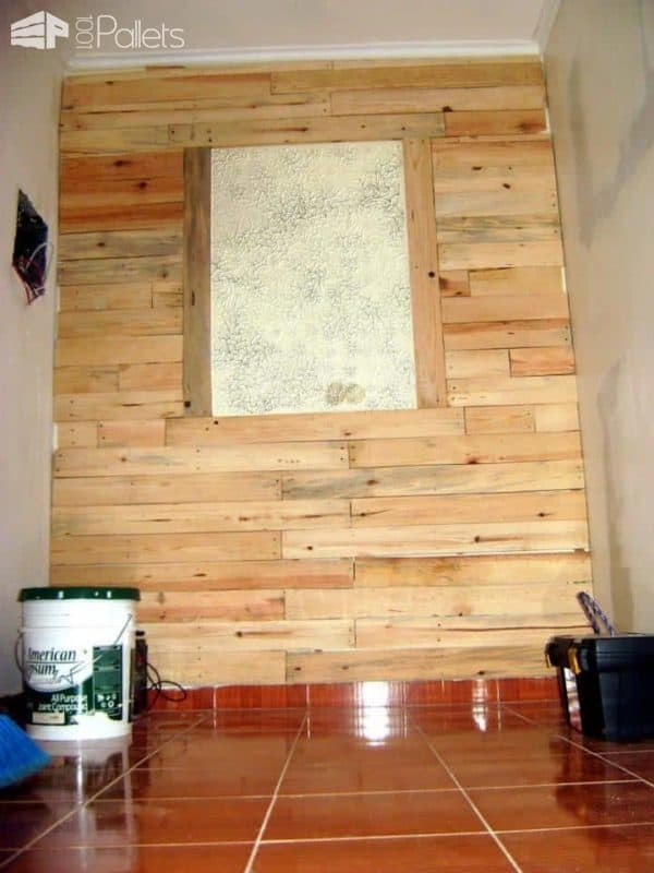 The Pallets Wall has been filled in, but I need to add the mirror.