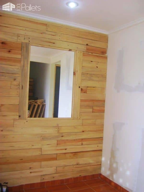My finished Pallets Wall project!