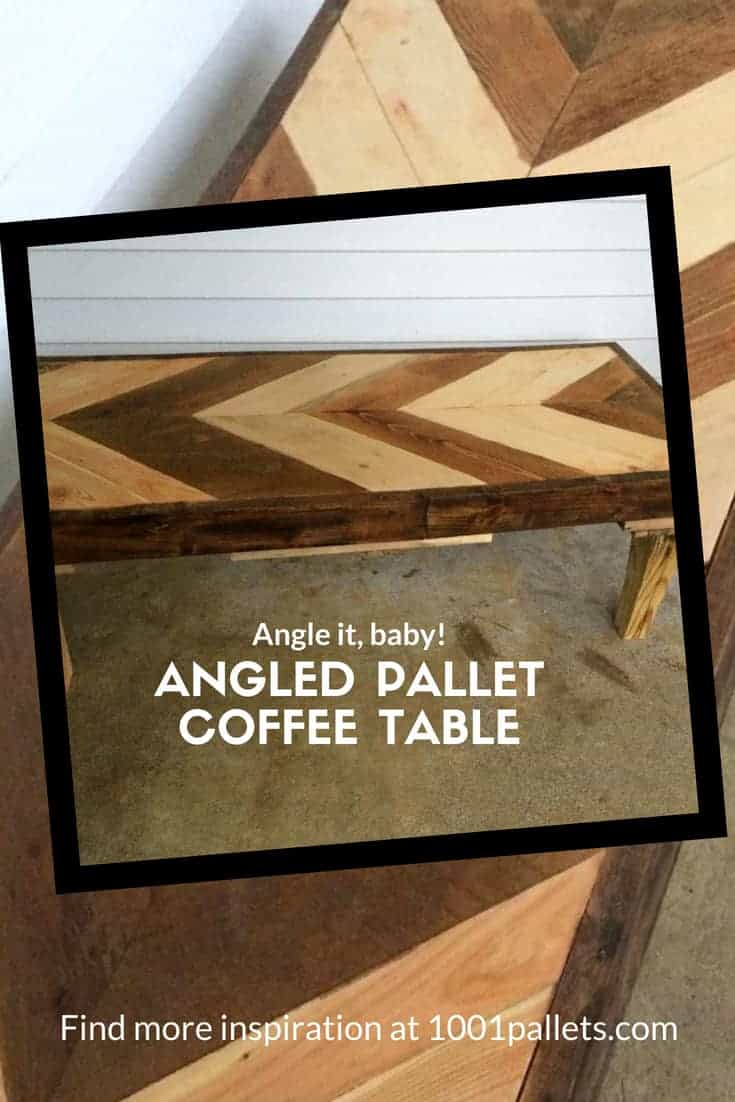 Awesome Angled Coffee Table Made Using 2 Pallets!