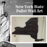 Backlit New York State Pallet Wall Decor