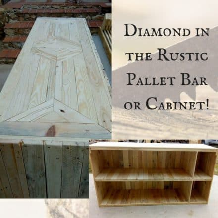 Decorative Pallet Bar or Counter