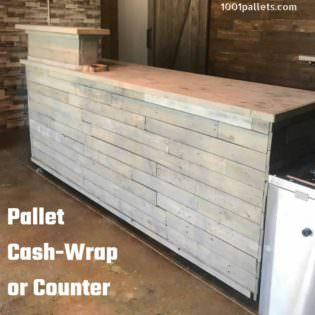 Flexible Design Pallet Counter Cash Wrap Or Pallet Bar