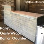 Flexible Design: Pallet Counter, Cash Wrap, or Pallet Bar Pallet Bars Pallet Store, Bar & Restaurant Decorations