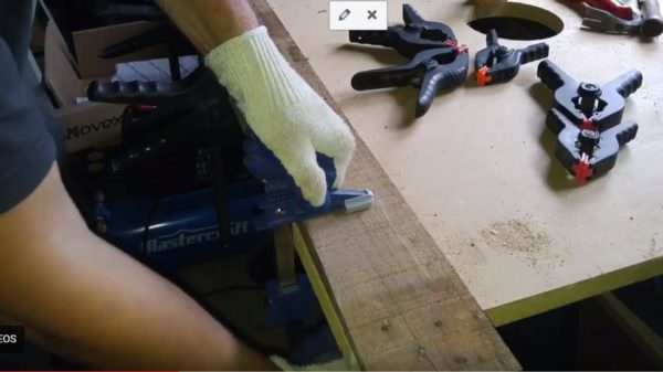 Clamp the wood together and allow to dry. If the wood isnt dry, when trying to cut and router the Two-toned piece, you could experience separations and injury.