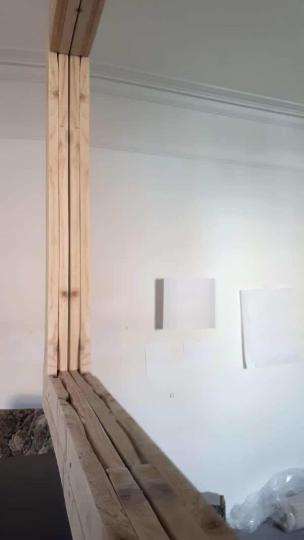 Large Simple Pallet Mirror Frame Dresses Up The Walls Pallet Wall Decor & Pallet Painting
