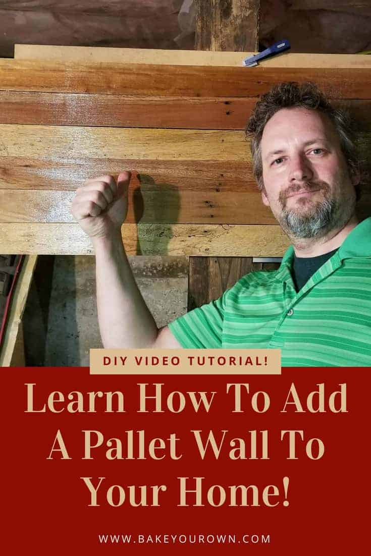 Add a Pallet Accent Wall or backdrop wall! Learn how to add drama or a stunning focal wall to your home. It's easier than you think! DIY Video! #palletwall #diypalletprojects #youcandoit #palletsrock