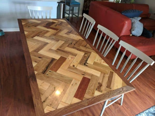 Turn your Dining Table into an heirloom piece with epoxy to protect the top.