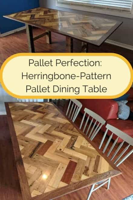Must-see Herringbone Pallet Dining Table