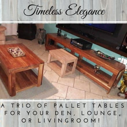 Pallet Lounge Tables: Tasteful Trio For Any Design Style