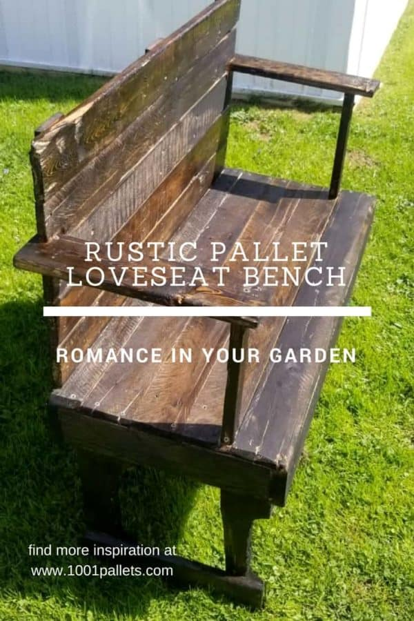 Rustic Pallet Loveseat Bench Is Perfect For Smaller Spaces