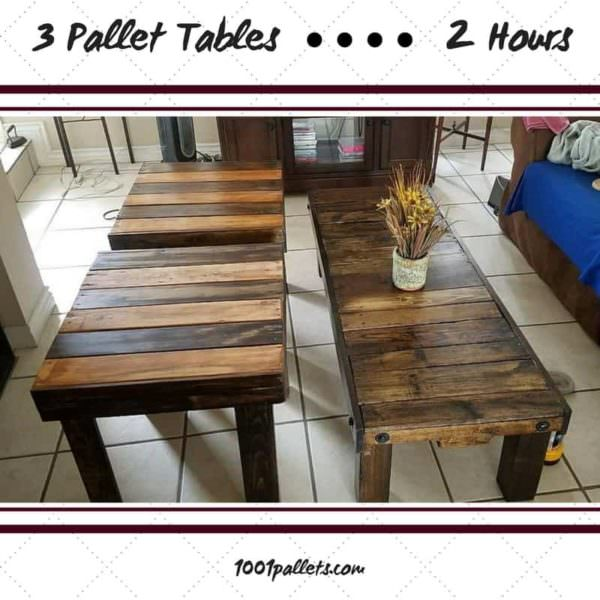 Three Pallet Tables Are Perfect For Smaller Spaces