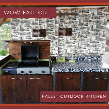 Amazing Pallet Outdoor Kitchen For Under 300 Dollars!