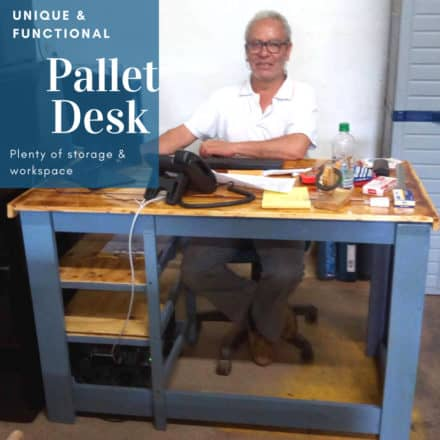 Pallet Desk Escritorio De Pallets