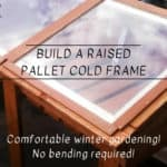Sun-loving Raised Pallet Cold Frame For Winter Growing