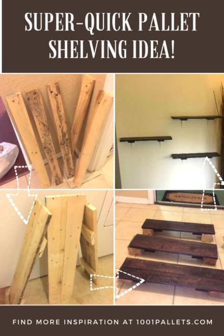Super-fast, Simple Rustic Pallet Shelving with One Pallet