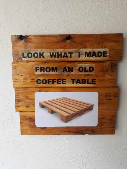 A Little Fun Project from Pallet Wood