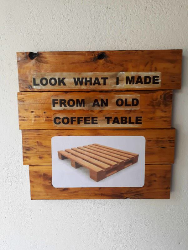 A Little Fun Project from Pallet Wood Pallet Wall Decor & Pallet Painting