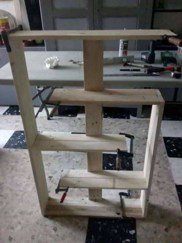 Design One-pallet Shelf / Etagère En Palettes Pallet Shelves & Pallet Coat Hangers