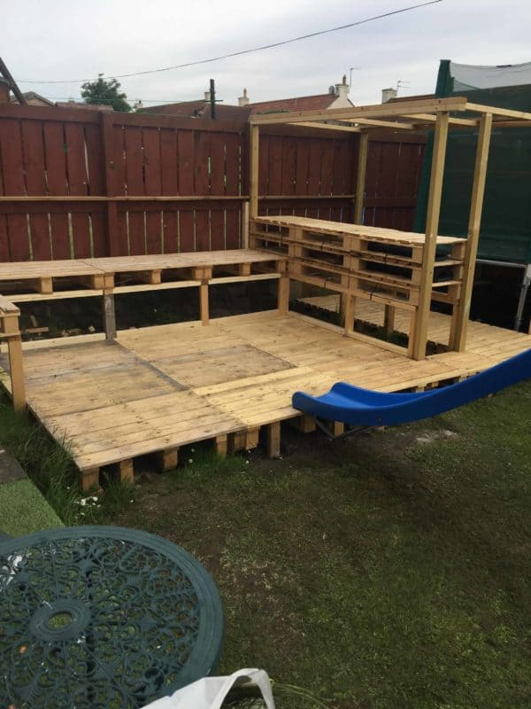 How I Made a Garden Bar from Wood Pallets