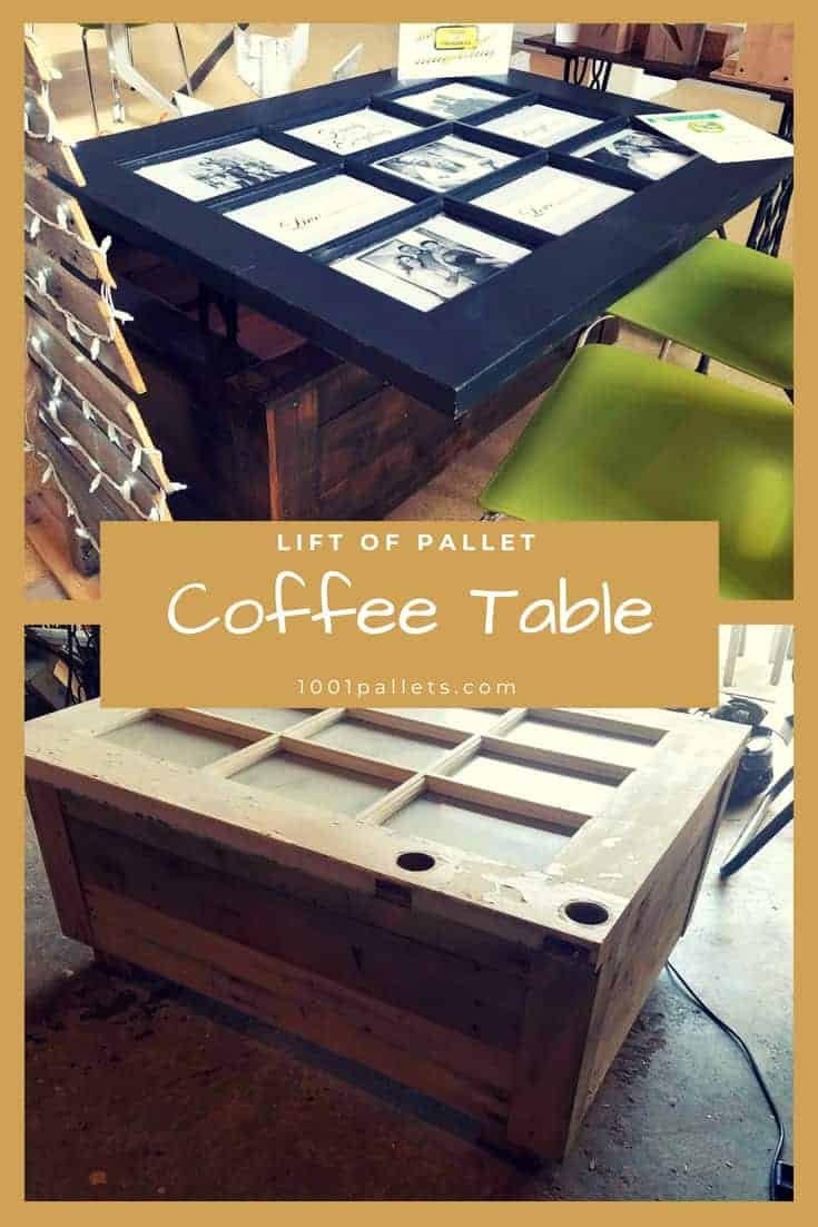 Lift Top Pallet Coffee Table 1001 Pallets